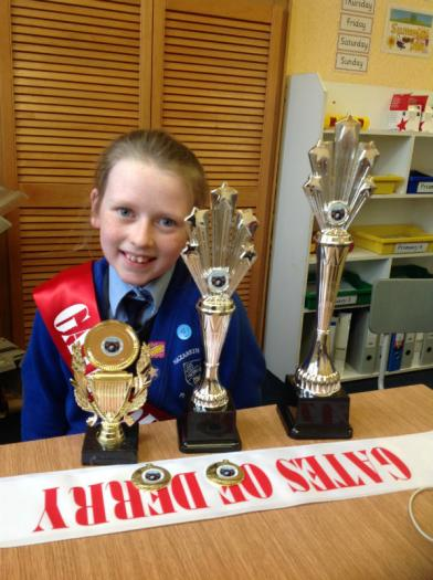 Congratulations Abbey on all your prizes for Irish dancing in the Gates of Derry Feis